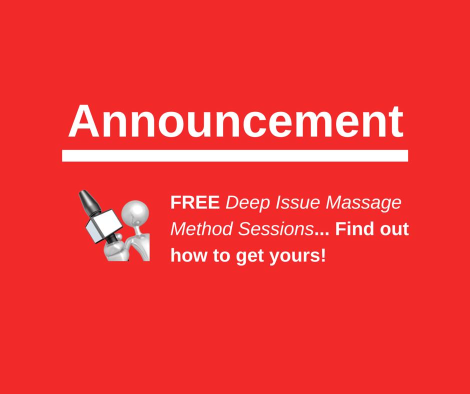 FREE Deep Issue Massage Method - Announcement.v2